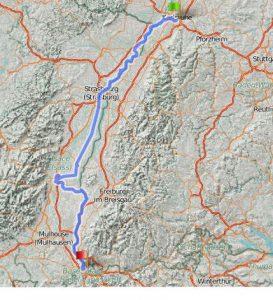 Elsass-Rhein-Tour - Zusammenfassung